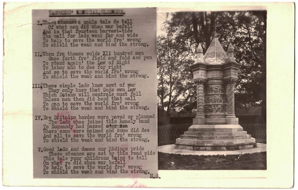 Wagoner Memorial, Sledmere
